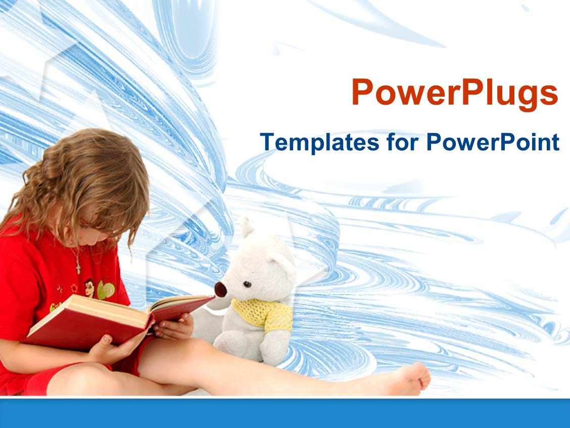 Reading powerpoint template quantumgaming powerpoint template child reading think the book with stars in modern powerpoint toneelgroepblik Images