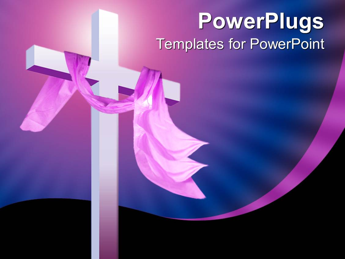 Powerpoint template christian religion theme with white cross and powerpoint template displaying christian religion theme with white cross and pink cloth blue and black toneelgroepblik Image collections