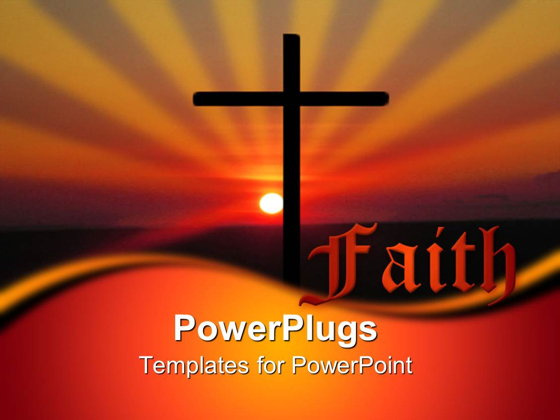 free church powerpoint templates - powerpoint template christian religious faith metaphor