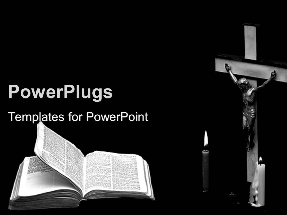 PowerPoint Template: Christian Theme With Crucifix, Jesus