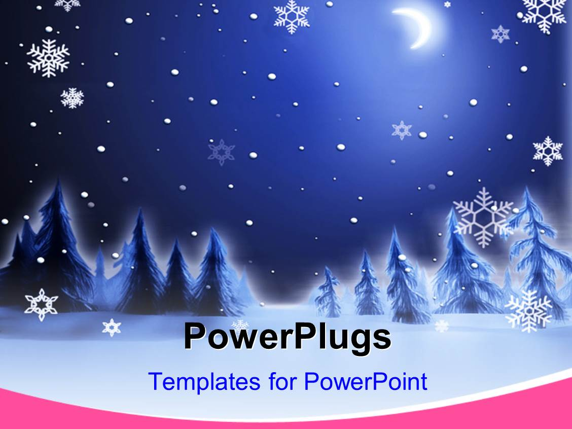Snow powerpoint templates crystalgraphics a slide set with christmas house and fir tree in snow drift mountain landscape template size toneelgroepblik Choice Image