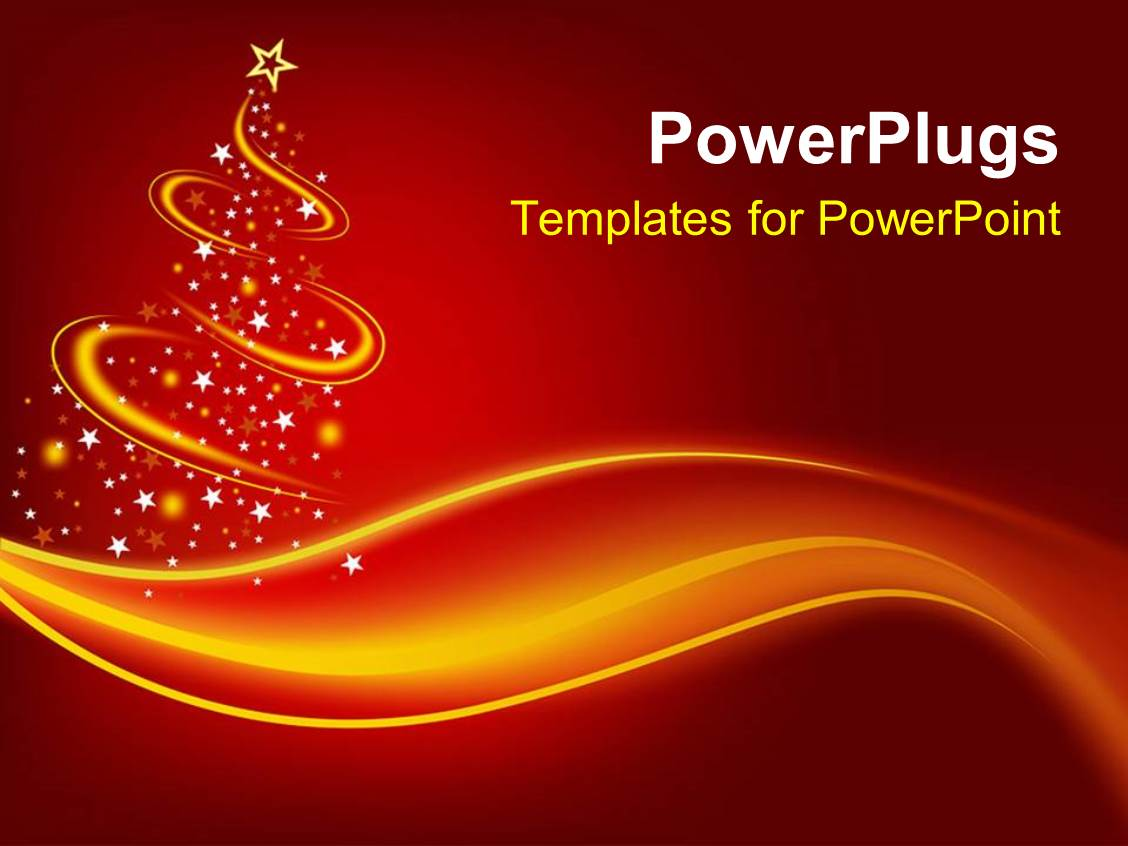 powerpoint template christmas theme with abstract