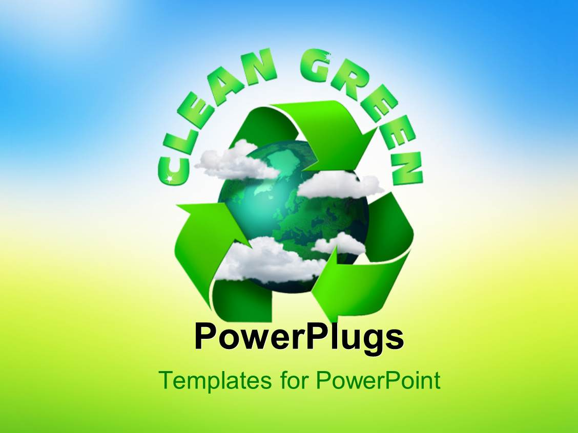 Powerpoint template climate change concept planet earth for How to modify powerpoint template
