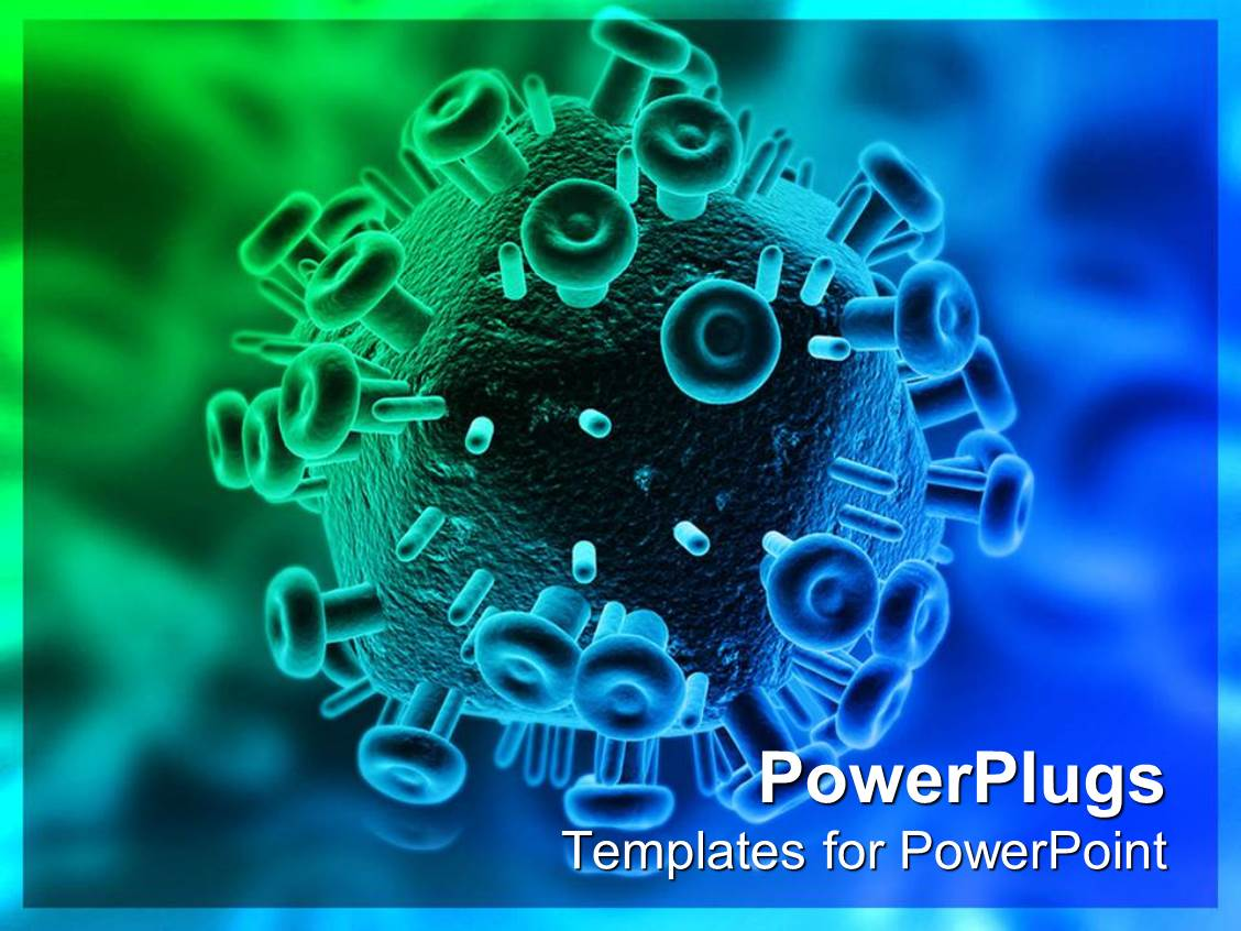 Hiv aids powerpoint templates crystalgraphics ppt enhanced with close up 3d hiv virus template size toneelgroepblik Images