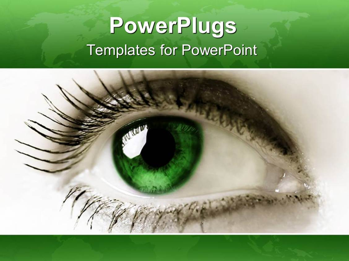 Powerpoint template a large gold colored 3d dragon with red eyes i love this presentation having close up female green eye green background toneelgroepblik Choice Image