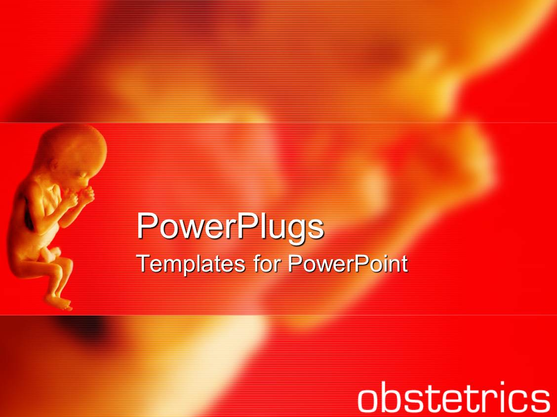 Obstetrics powerpoint templates crystalgraphics a ppt featuring close up of fetus and fading fetus on the red background with obstetrics template size toneelgroepblik Image collections