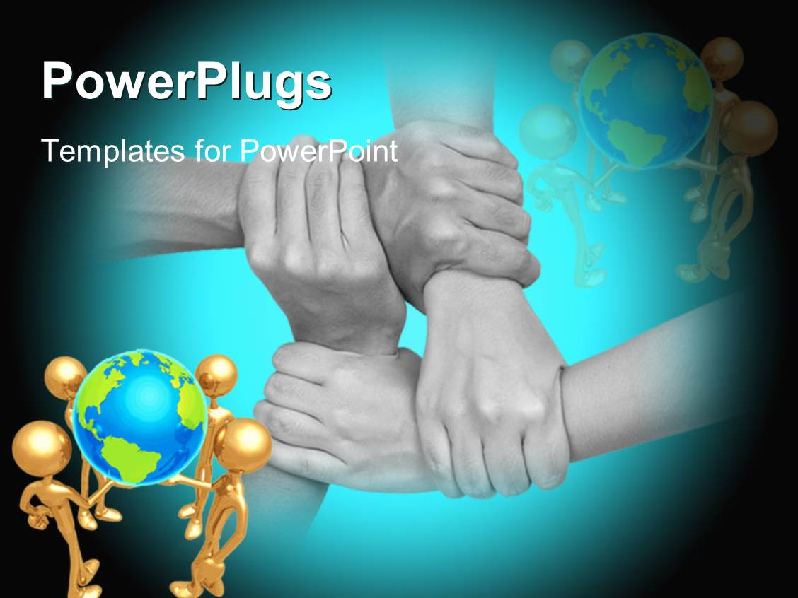Multicultural powerpoint templates crystalgraphics powerplugs powerpoint template with close up multicultural hands holding each other with different humanoids holding toneelgroepblik Images