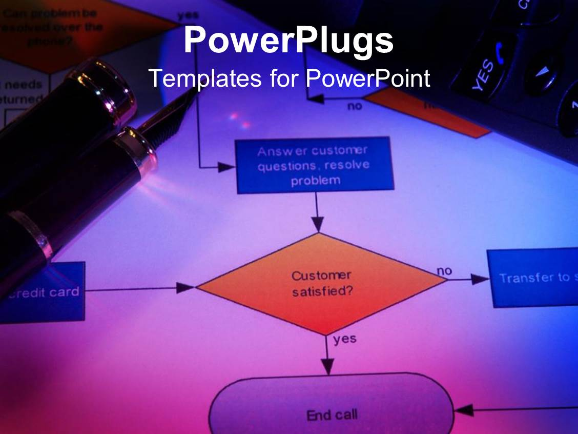powerpoint template: close up of process flow chart with classy, Modern powerpoint
