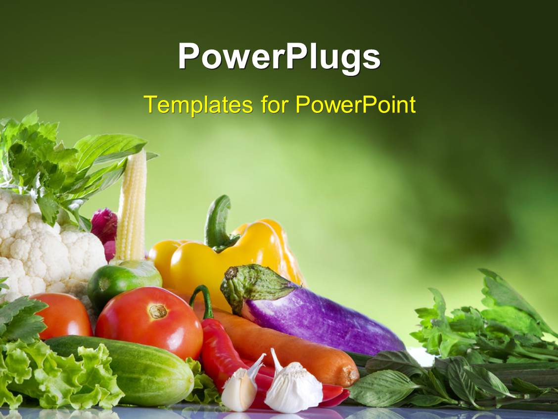 Powerpoint template close up view of nice fresh vegetables on powerpoint template displaying close up view of nice fresh vegetables on green textured background toneelgroepblik Choice Image