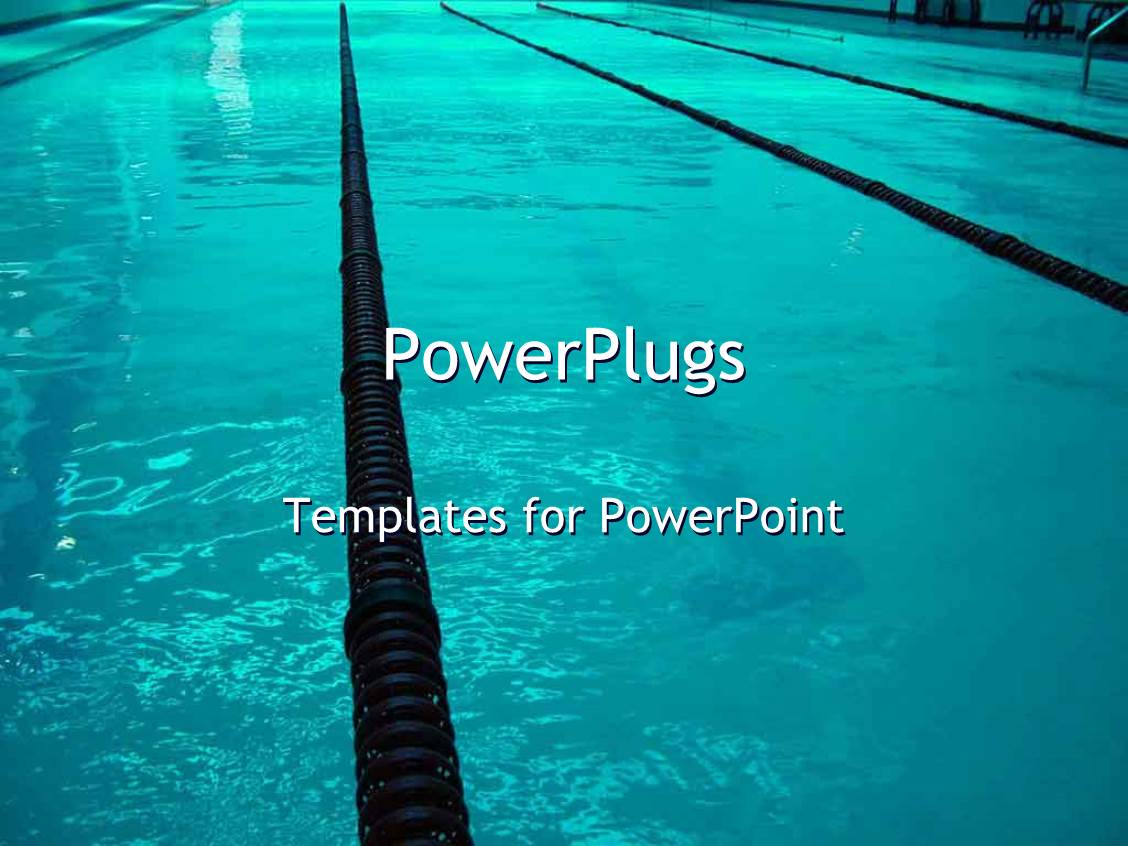 Powerpoint Template A Close Up View Of A Swimming Pool With Some Black Lanes 29875