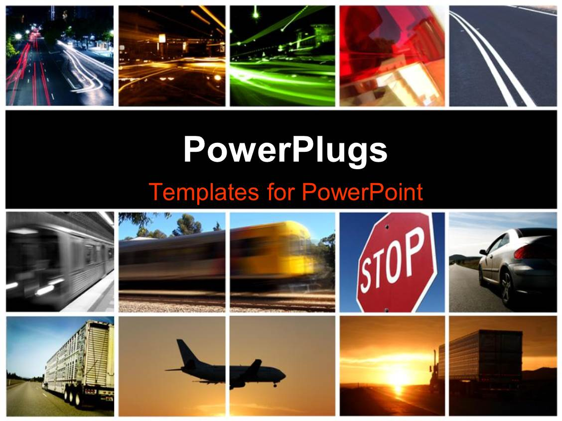 Powerpoint template a collage depicting different modes for Free online photo collage templates
