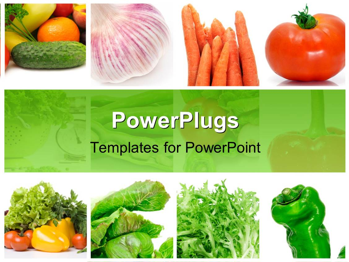 Powerpoint template collage of depictions of different vegetables powerpoint template displaying collage of depictions of different vegetables toneelgroepblik Choice Image