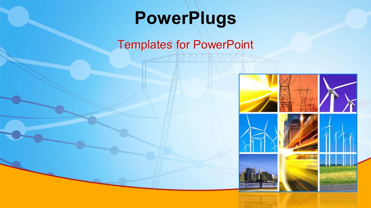 Energy powerpoint template green energy powerpoint template slidesbase powerpoint template electricity generation and energy powerpoint template toneelgroepblik Images