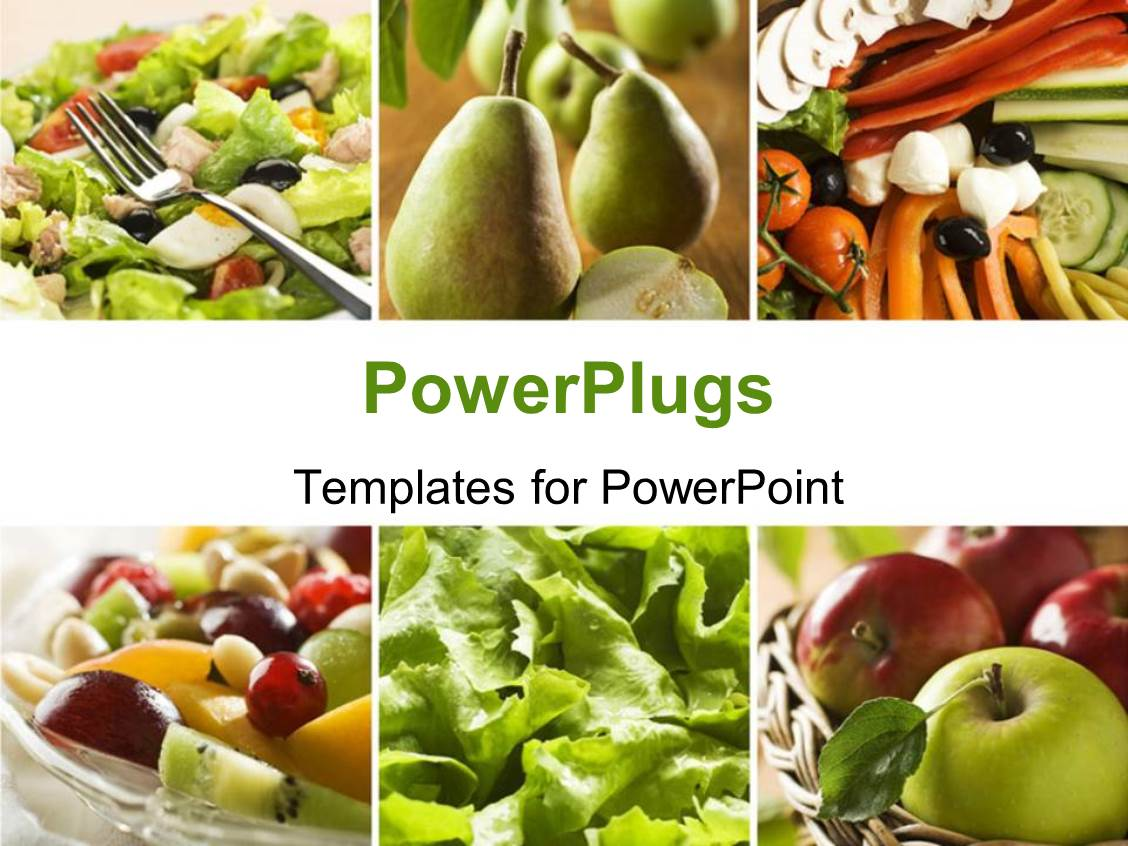 Powerpoint template collage of a healthy vegetables and fruit powerpoint template displaying collage of a healthy vegetables and fruit food toneelgroepblik Choice Image