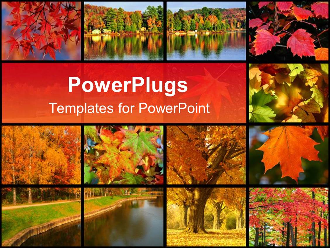 Powerpoint template collage of images representing autumn in the powerpoint template displaying collage of images representing autumn in the park near a river with autumn toneelgroepblik