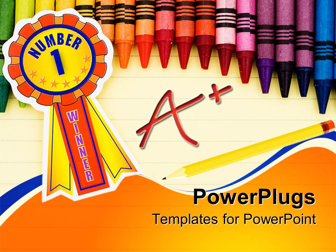 Lined paper powerpoint templates crystalgraphics elegant ppt theme enhanced with colorful crayons on lined paper with pencil and a grade and template size toneelgroepblik Images