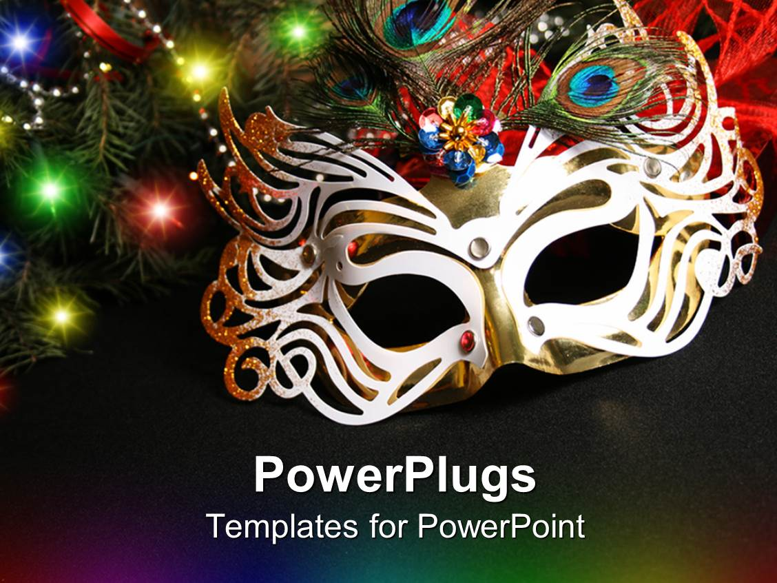 powerpoint template: black background with colorful beads and, Powerpoint templates