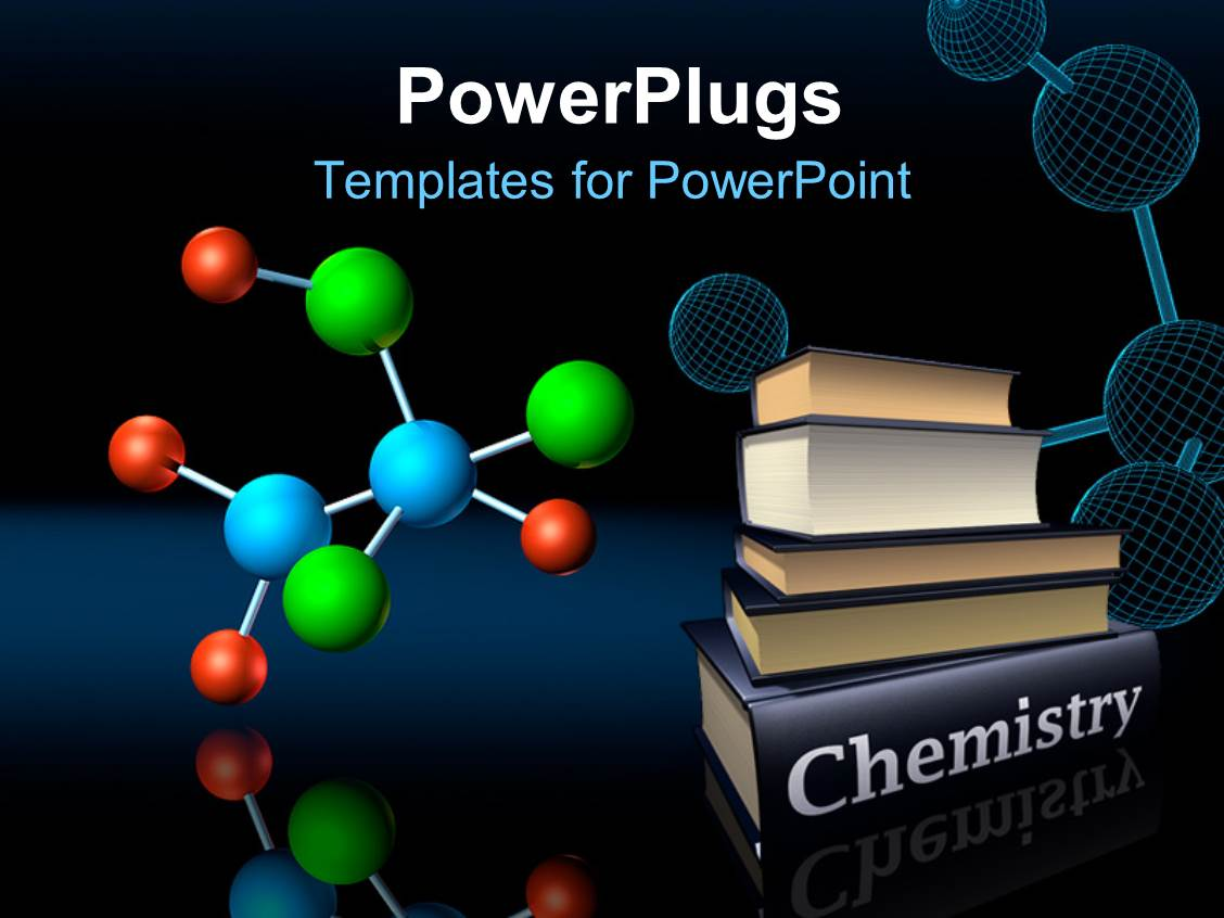powerpoint template: colorful molecular structure and wireframe, Powerpoint templates