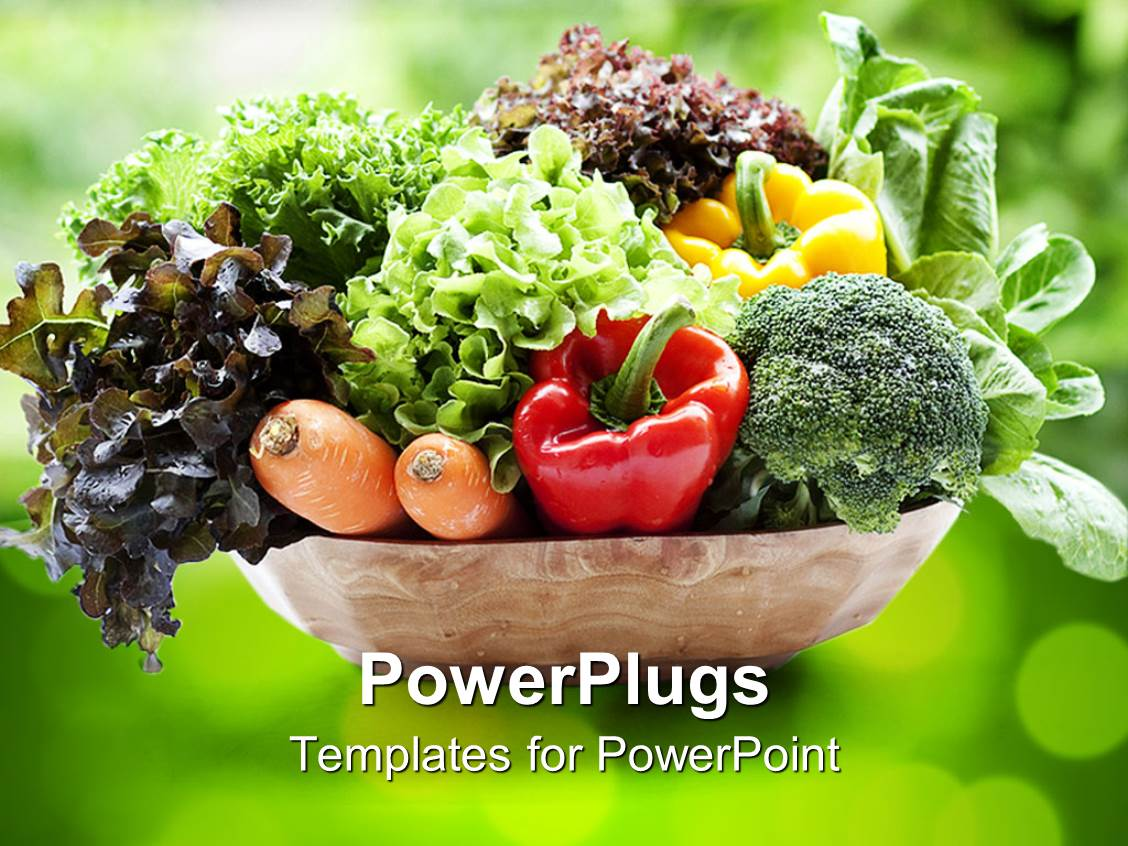 Vegetables powerpoint templates crystalgraphics powerplugs powerpoint template with combination of vegetables toneelgroepblik Choice Image