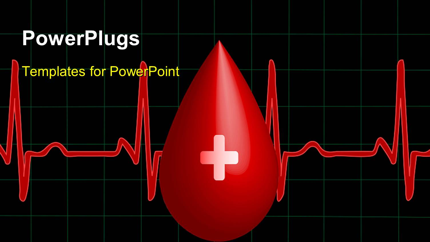Blood powerpoint templates crystalgraphics presentation design having a drop of blood with a heartbeat line toneelgroepblik Images