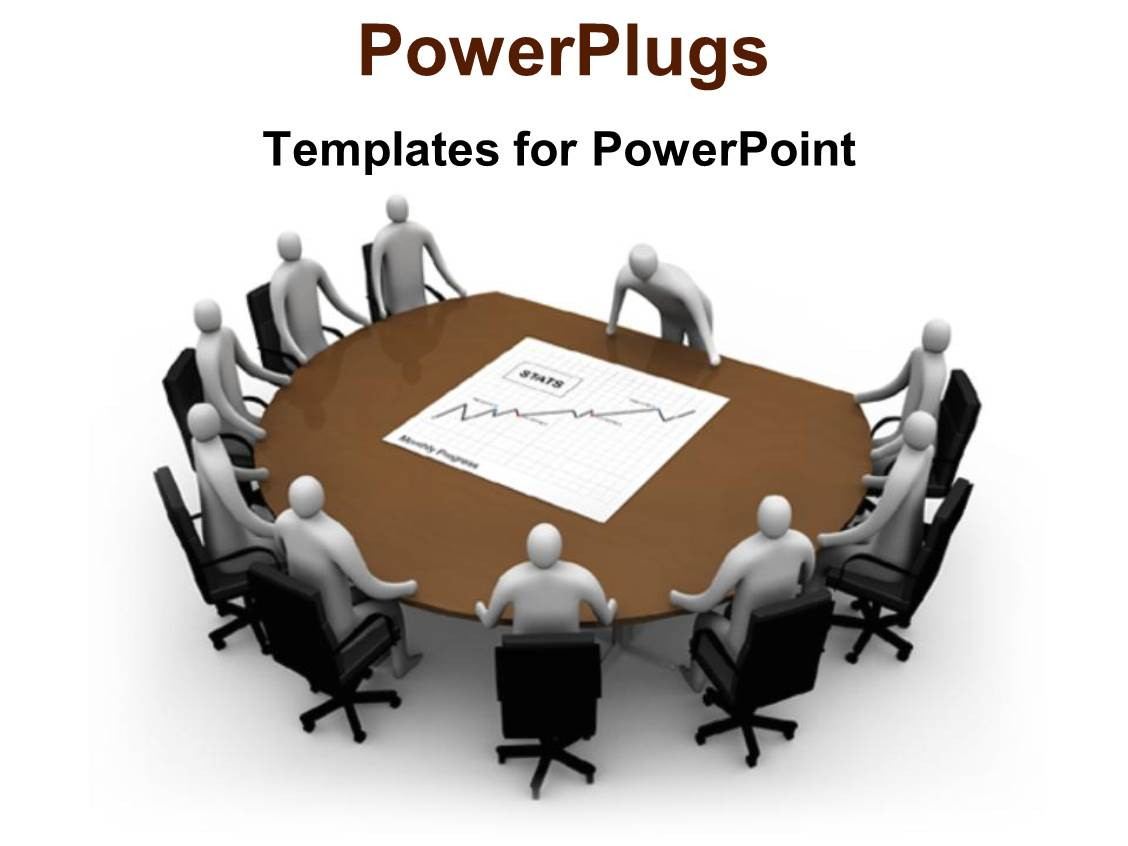powerpoint template presentations conference meeting table teamwork planning strategy 1349. Black Bedroom Furniture Sets. Home Design Ideas