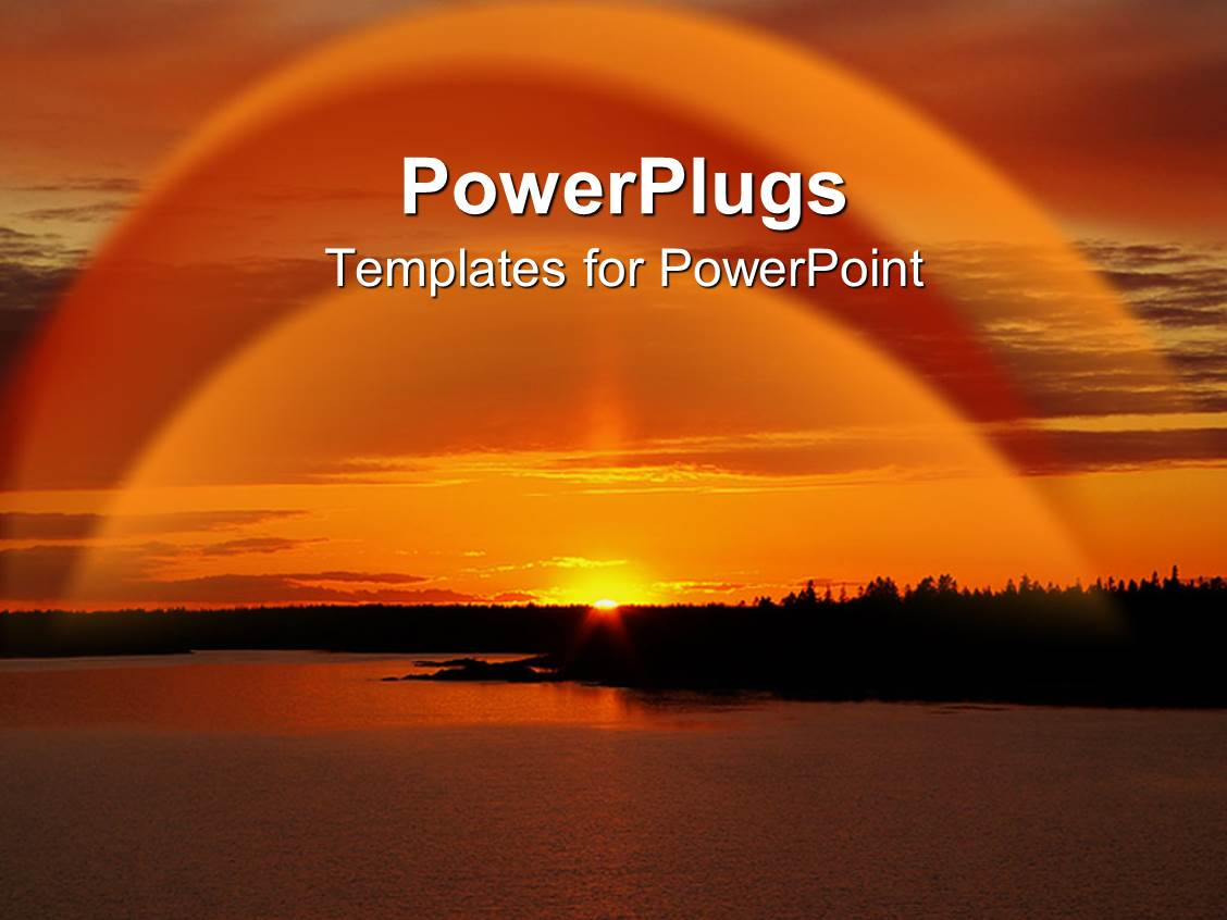 powerpoint template a cool evening sunset view of a river
