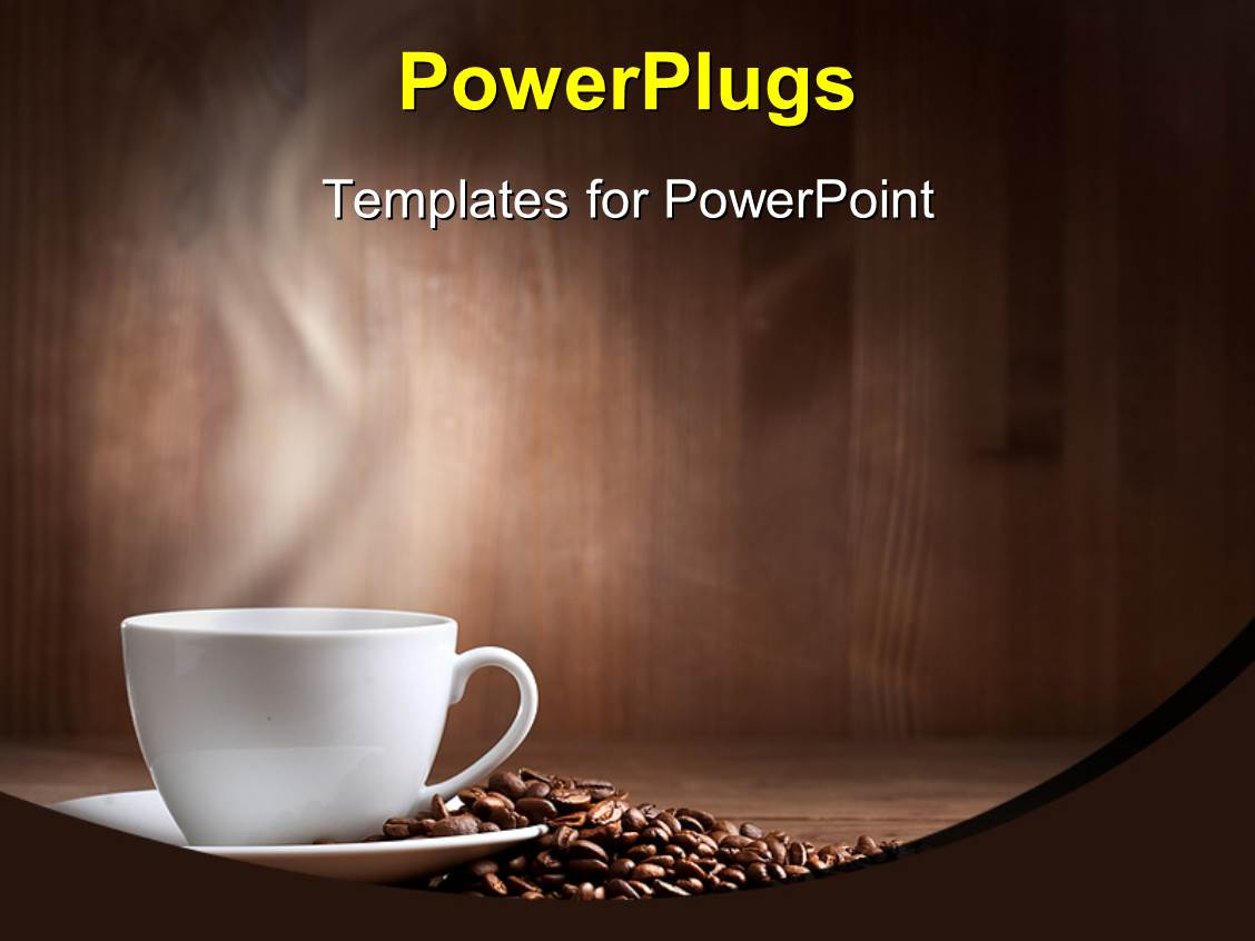 powerpoint template a cup of coffee along with a number. Black Bedroom Furniture Sets. Home Design Ideas