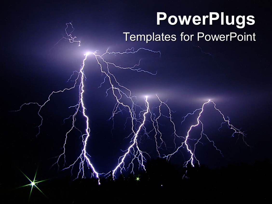 Powerpoint template dark stormy night lightning strikes 19034 powerpoint template displaying dark stormy night lightning strikes toneelgroepblik Gallery