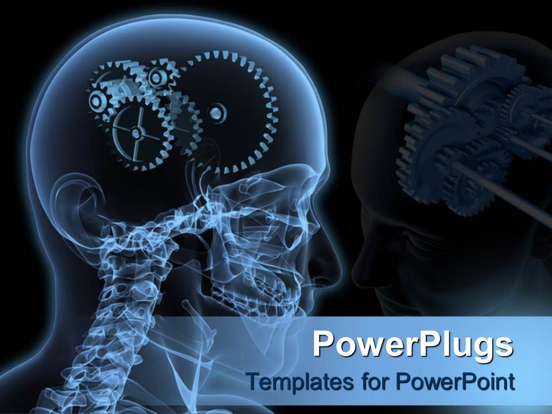 Radiology powerpoint templates crystalgraphics beautiful theme having the depiction of gears instead of human brain with blackish background template size toneelgroepblik Gallery