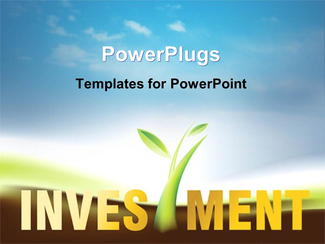 investment powerpoint templates | crystalgraphics, Presentation templates