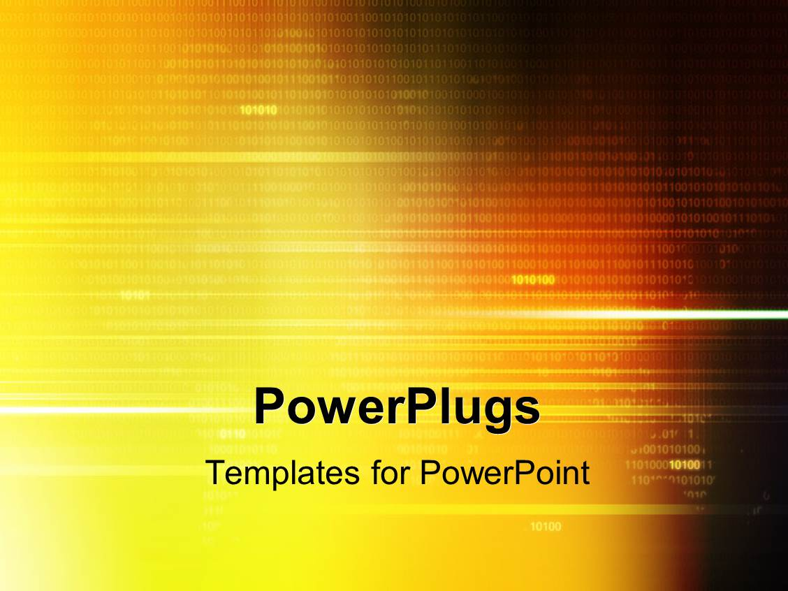 powerpoint template: digital background with binary code, a, Modern powerpoint