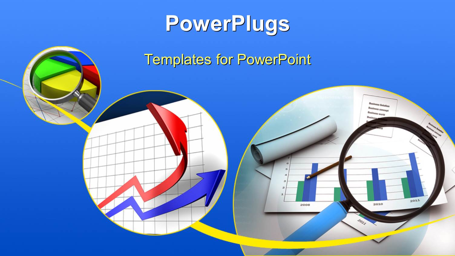 powerpoint template business charts and documents over