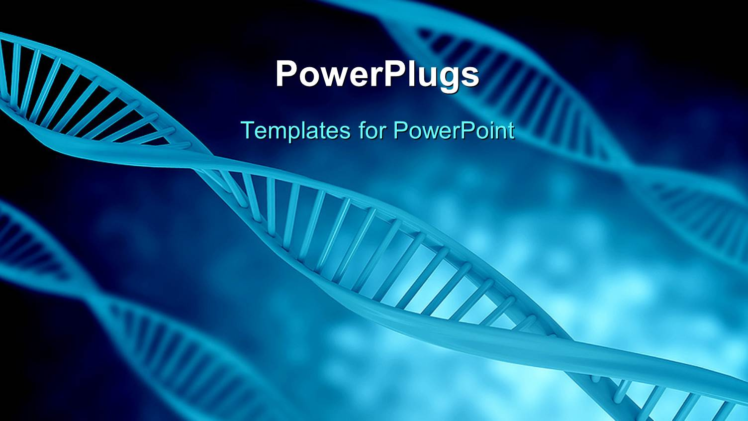 Powerpoint template a bluish background with dna structure 9726 powerpoint template displaying a bluish background with dna structure toneelgroepblik Images