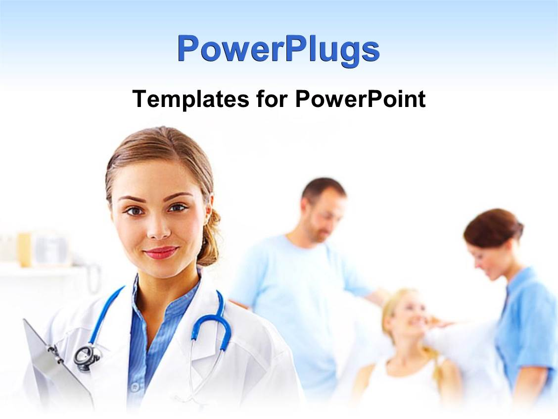 Download clipboard powerpoint templates for powerpoint presentations powerpoint template doctor nurse with stethoscope and alramifo Gallery