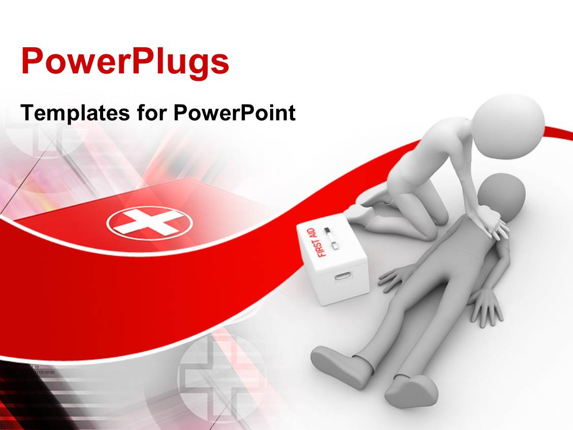 powerpoint template: doctor performing cpr first aid on human, Powerpoint templates