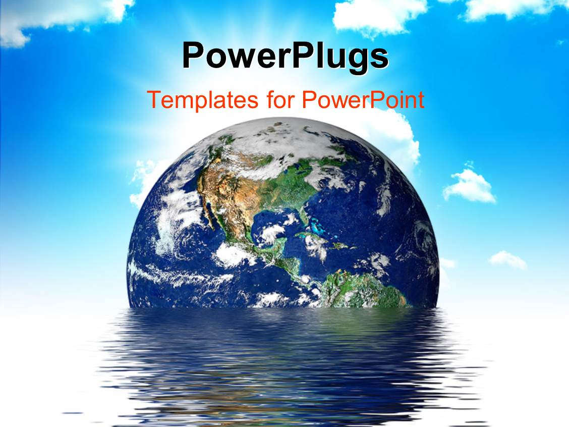 powerpoint template: earth melting into a puddle showing the, Presentation templates