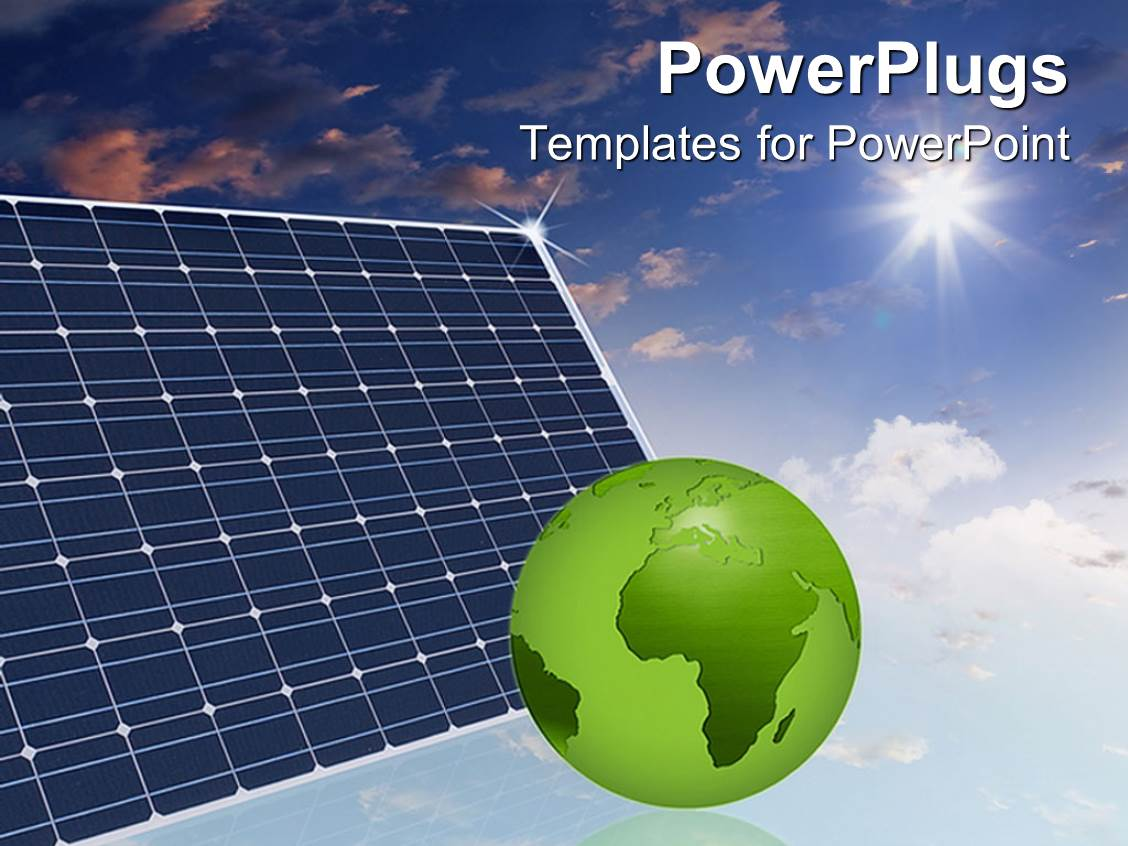 powerpoint template: eco friendly solar panels in the sky make the, Presentation templates