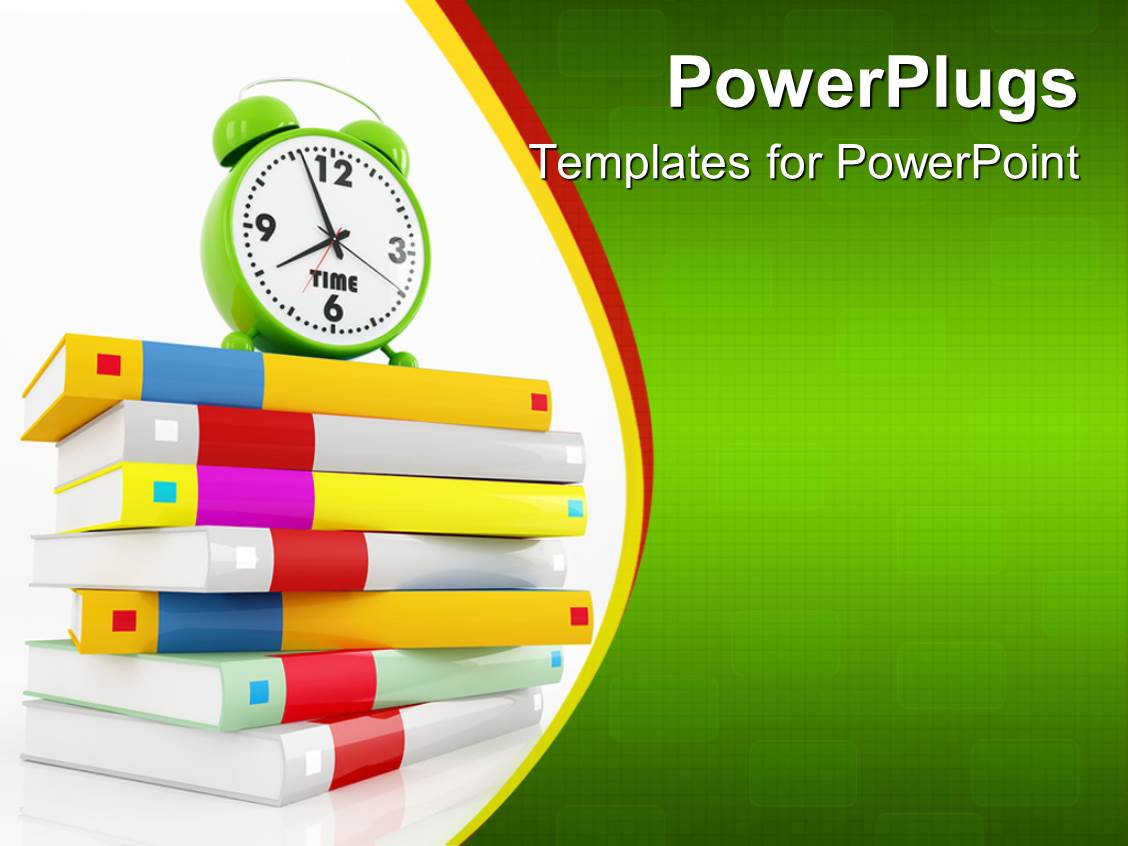 PowerPoint Template: education theme with various colored cover ...