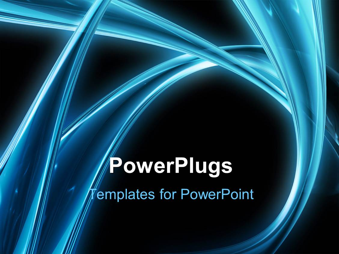 powerpoint template: digital depiction of eye in blue neon, access, Modern powerpoint