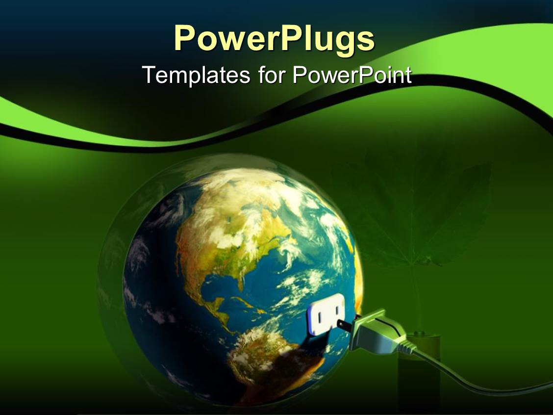 power plug powerpoint templates | crystalgraphics, Modern powerpoint