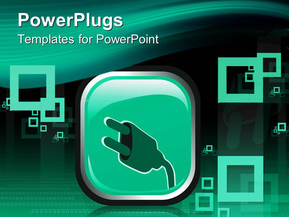 powerpoint template: electrical cord end, electric pin and binary, Presentation templates