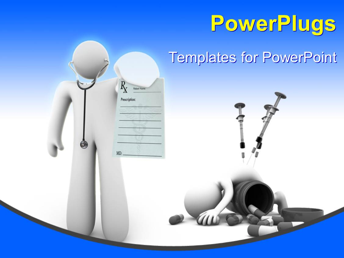 Powerpoint template a figure representing a doctor with for Power plugs powerpoint templates