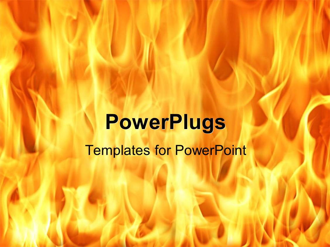powerpoint template fire and flames background 12289. Black Bedroom Furniture Sets. Home Design Ideas
