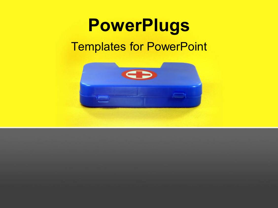 health and safety powerpoint templates - powerpoint template first aid box depicting health and