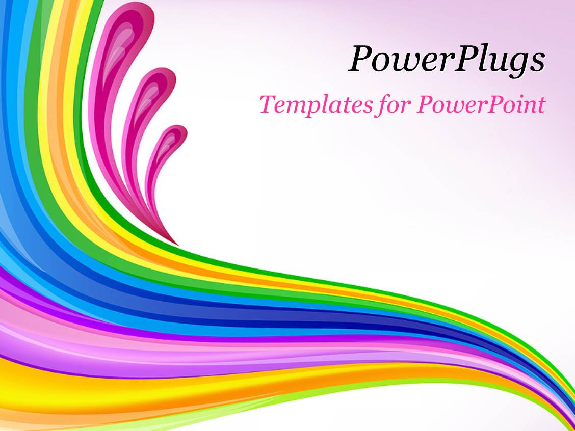 powerpoint template: florat art design over pink background (12486), Modern powerpoint