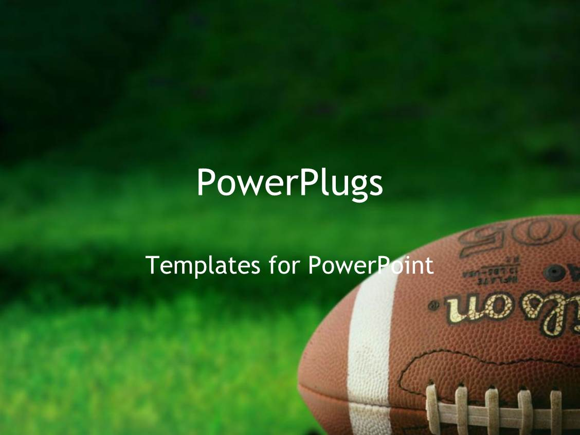 powerpoint template football on grass athletes playing