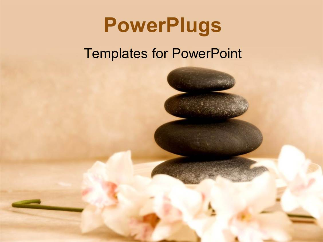 PowerPoint Template: four spa stones arranged on each ...