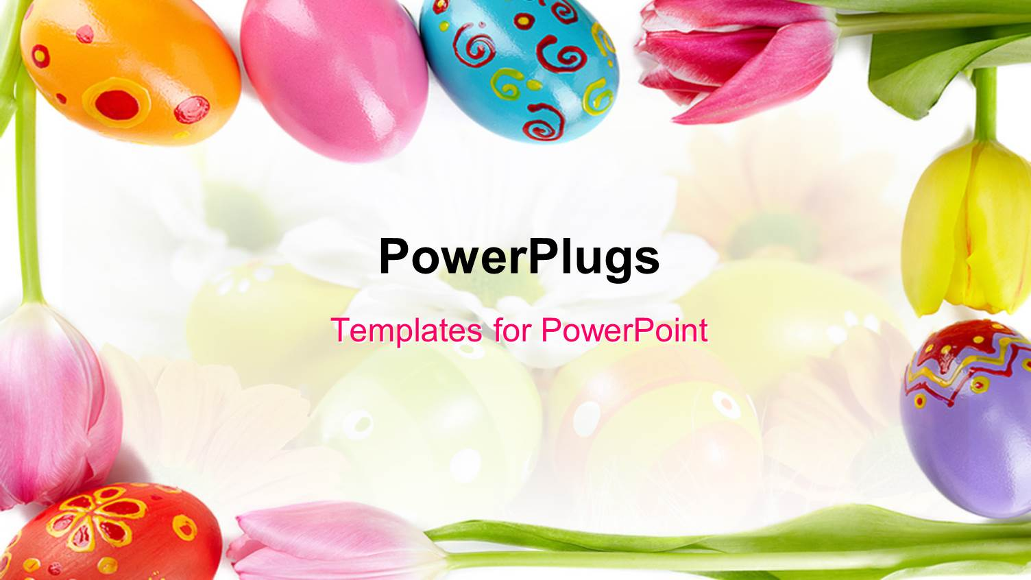 Powerpoint template a number of easter eggs with colorful powerpoint template displaying a number of easter eggs with colorful background toneelgroepblik Image collections