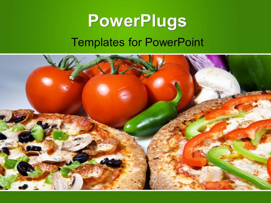 PowerPoint Template: Fresh pizza deal with fresh toppings ...