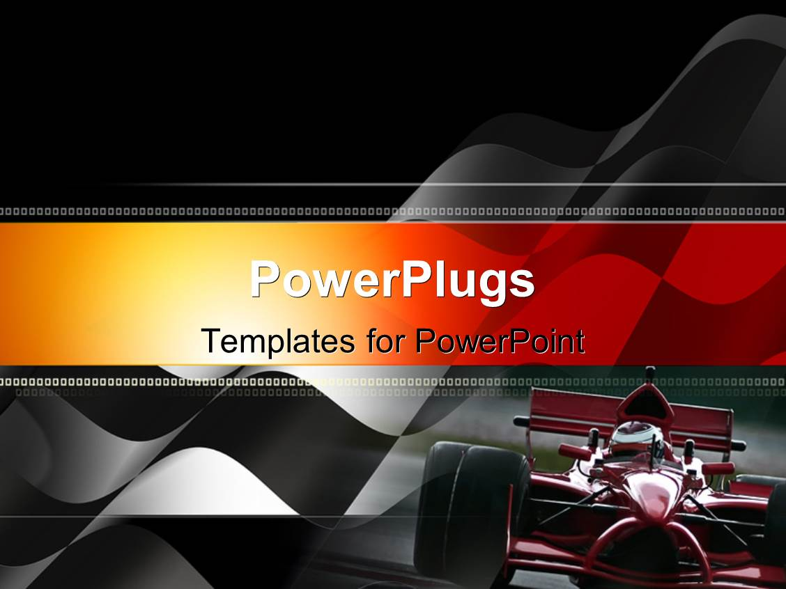 Maroon powerpoint templates crystalgraphics ppt theme featuring front view of maroon race car with black and white checkered flag in template size toneelgroepblik Images